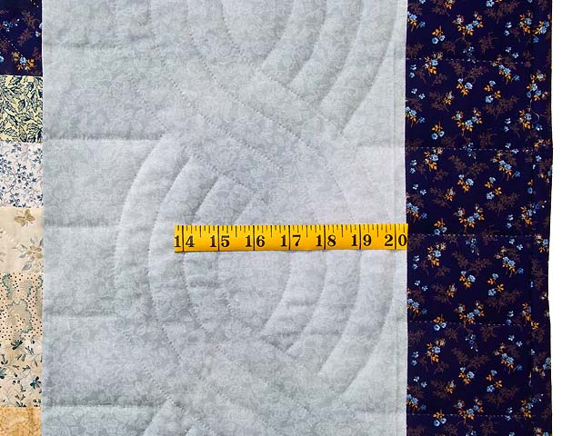 King Navy Blue and Gold Trip Around the World Quilt Photo 7