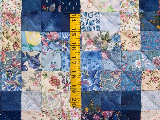 King Navy Blue Fabric Maze Quilt Photo 5