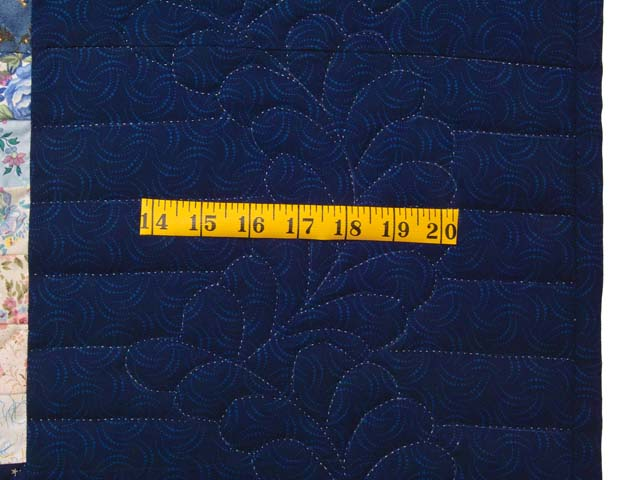 King Navy Blue Fabric Maze Quilt Photo 7