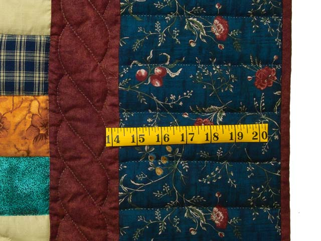 Navy and Burgundy Hearts and Nine Patch Quilt Photo 6