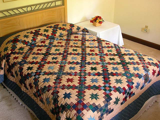Old Thyme Chain and  Stars Quilt Photo 1