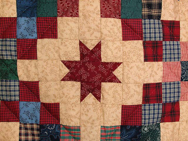 Old Thyme Chain and  Stars Quilt Photo 5
