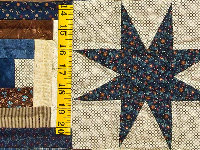 Navy and Brown Court Step Stars Quilt Photo 6