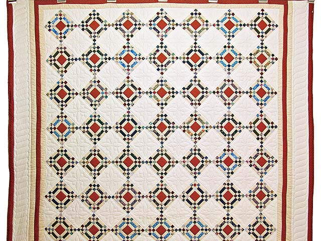 Country Colors Nine Patch on Point Quilt Photo 2