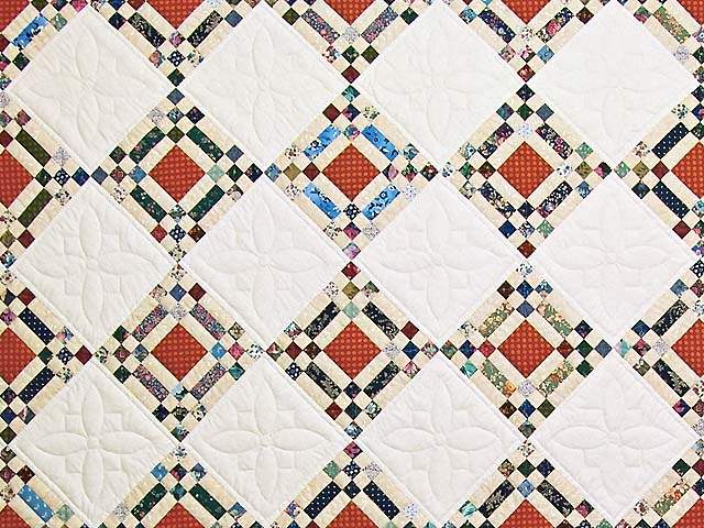 Country Colors Nine Patch on Point Quilt Photo 3