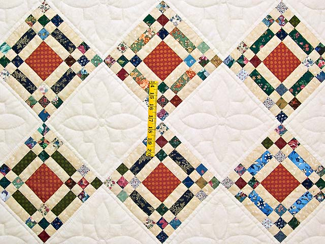 Country Colors Nine Patch on Point Quilt Photo 4