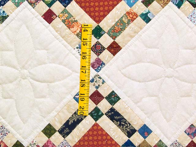 Country Colors Nine Patch on Point Quilt Photo 5