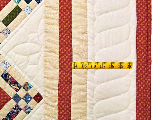 Country Colors Nine Patch on Point Quilt Photo 6