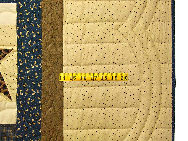 Blue and Golden Brown Ancient Star Quilt Photo 6