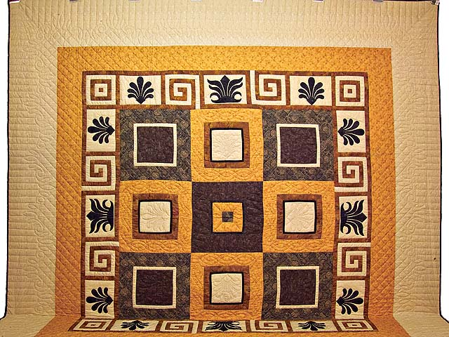 King Gold Brown and Tan Corbi Quilt Photo 2