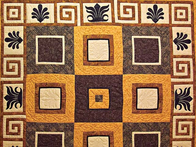 King Gold Brown and Tan Corbi Quilt Photo 3