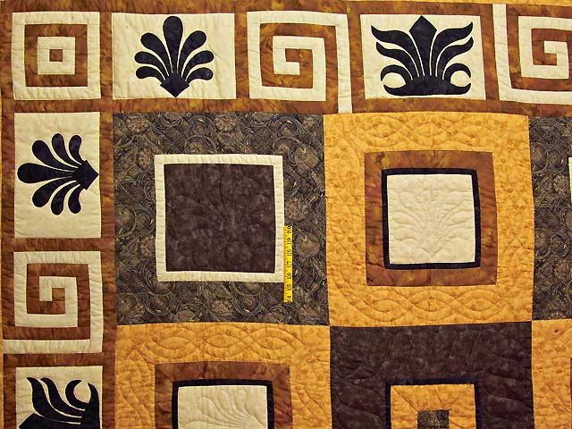 King Gold Brown and Tan Corbi Quilt Photo 4