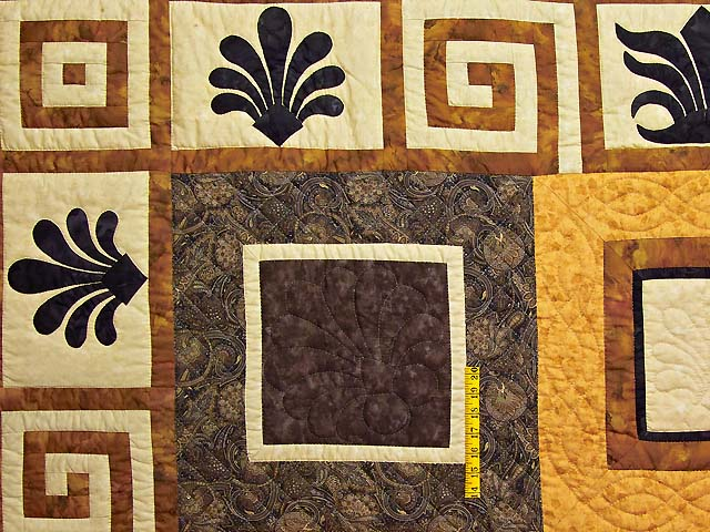 King Gold Brown and Tan Corbi Quilt Photo 5