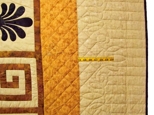 King Gold Brown and Tan Corbi Quilt Photo 7
