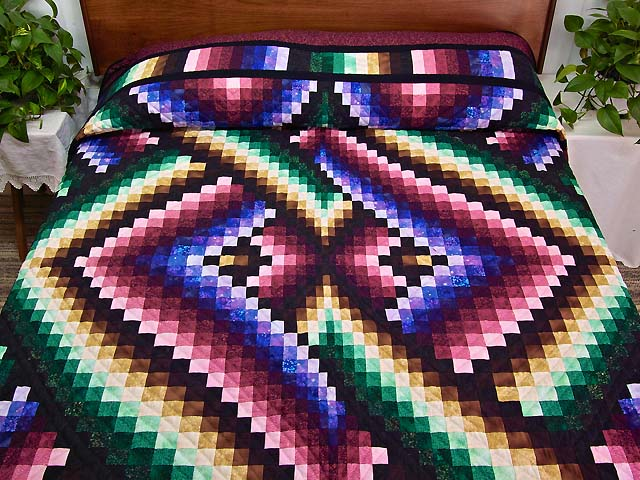 Almost Amish Bargello Links Quilt Photo 1