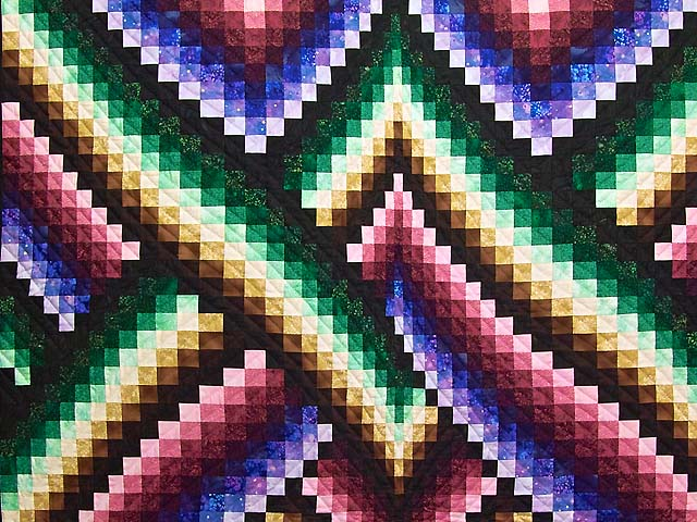 Almost Amish Bargello Links Quilt Photo 3