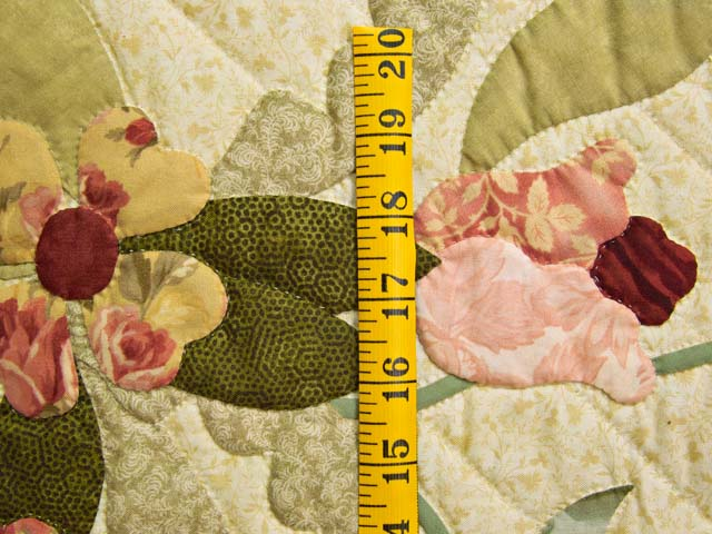 King Sage Green and Rose Spring Basket Quilt Photo 6