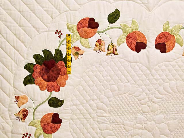 Salmon Heart of Roses Quilt Photo 4