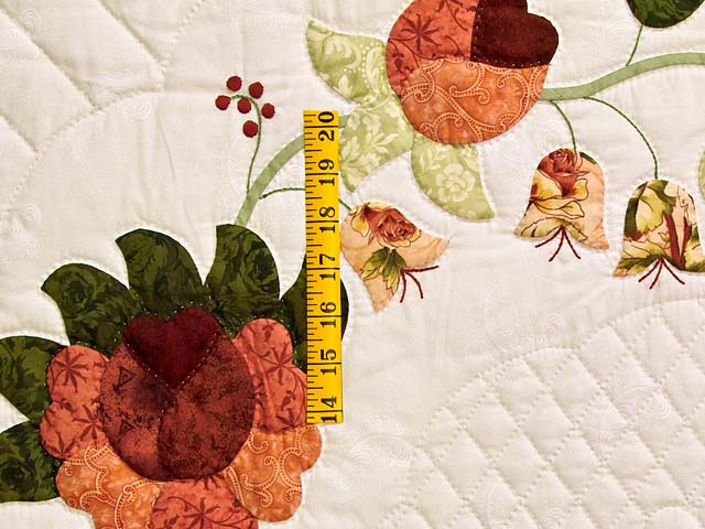Salmon Heart of Roses Quilt Photo 5