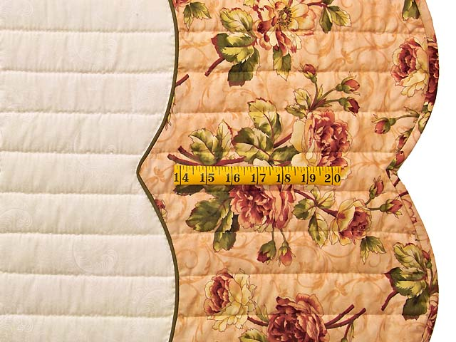 Salmon Heart of Roses Quilt Photo 7