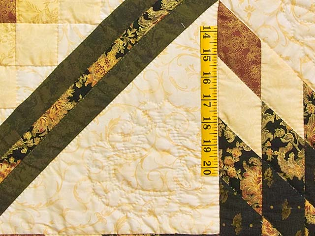 Gold Black and Moss Lone Star Trip Quilt Photo 5