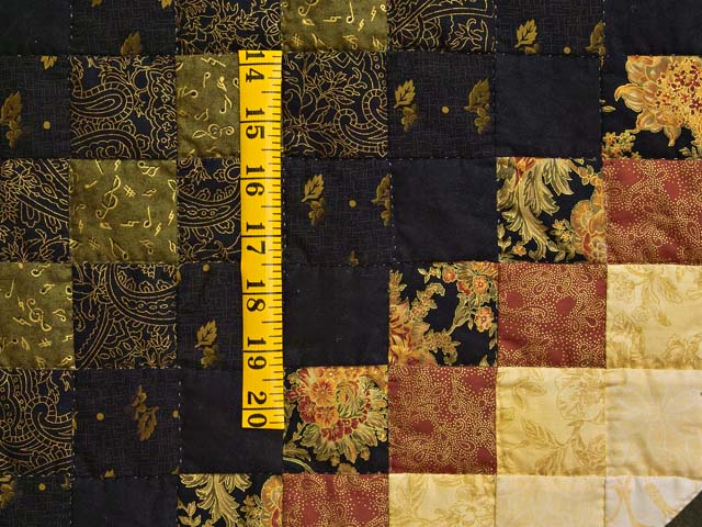 Gold Black and Moss Lone Star Trip Quilt Photo 6