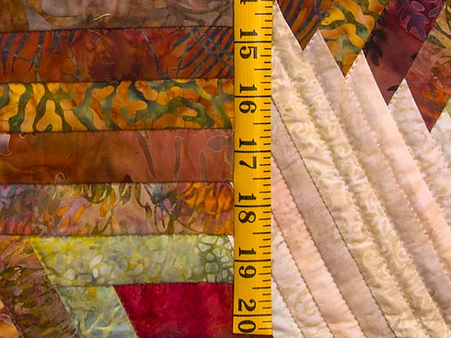 Hand Painted Diamond Star Log Cabin Quilt Photo 5