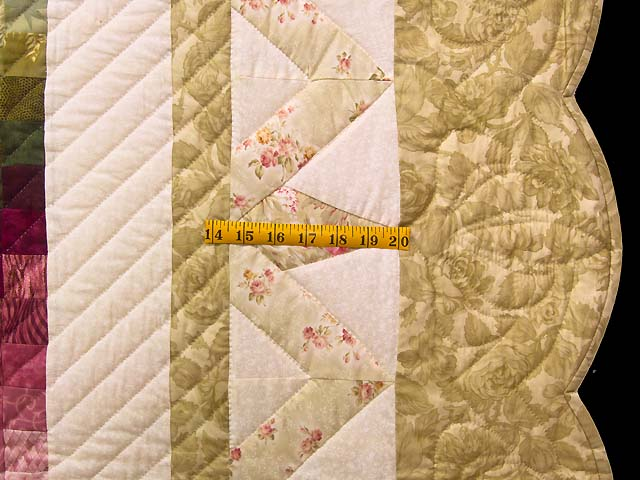 Moss Rose and Ivory Rainbow Reflections Quilt Photo 7