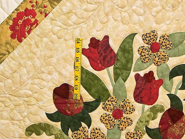 Wheat Burgundy and Sage Spring Basket Quilt Photo 5