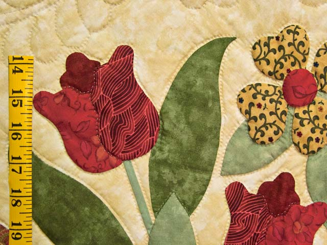 Wheat Burgundy and Sage Spring Basket Quilt Photo 6