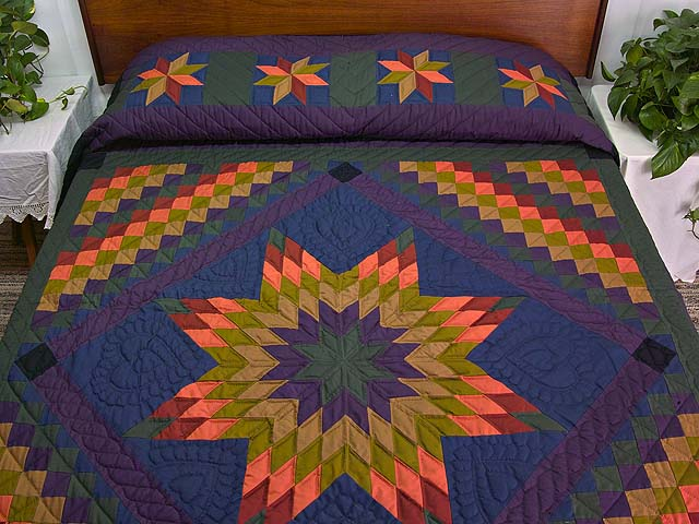 Amish Lone Star Trip Quilt Photo 1