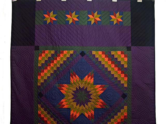 Amish Lone Star Trip Quilt Photo 2