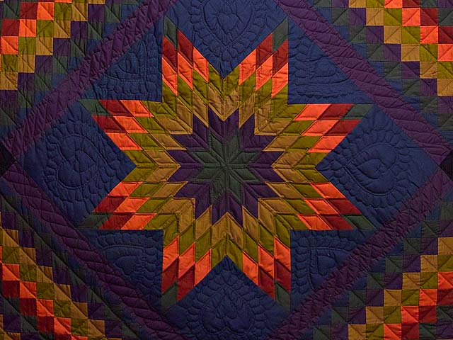 Amish Lone Star Trip Quilt Photo 3