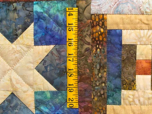 King Hand Painted Courthouse Log Cabin Stars Quilt Photo 6