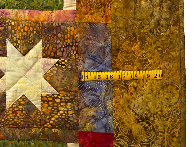 King Hand Painted Courthouse Log Cabin Stars Quilt Photo 7