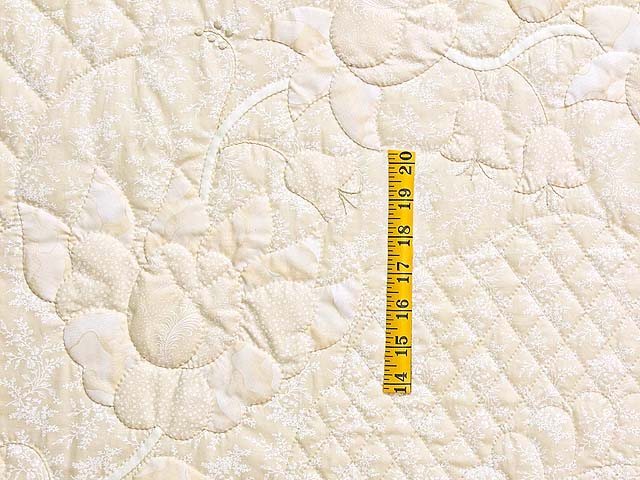 All Neutrals Heart of Roses Quilt Photo 5