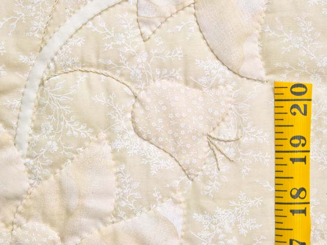 All Neutrals Heart of Roses Quilt Photo 6