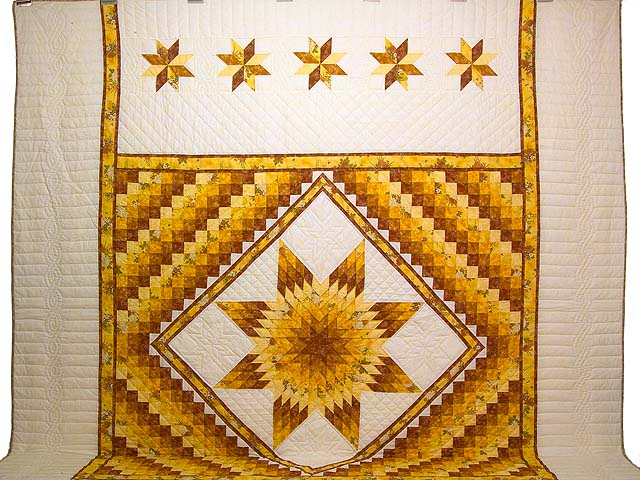 King Gold and Cream Lone Star Trip Quilt Photo 2