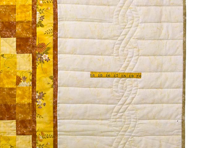 King Gold and Cream Lone Star Trip Quilt Photo 7
