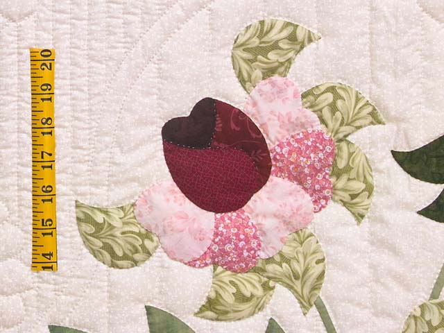 King Rose Moss and Blue Lancaster Treasures Quilt Photo 5