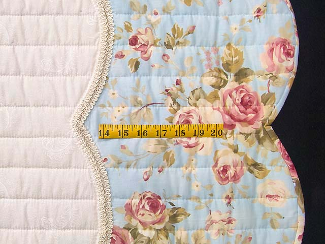 King Rose Moss and Blue Lancaster Treasures Quilt Photo 7