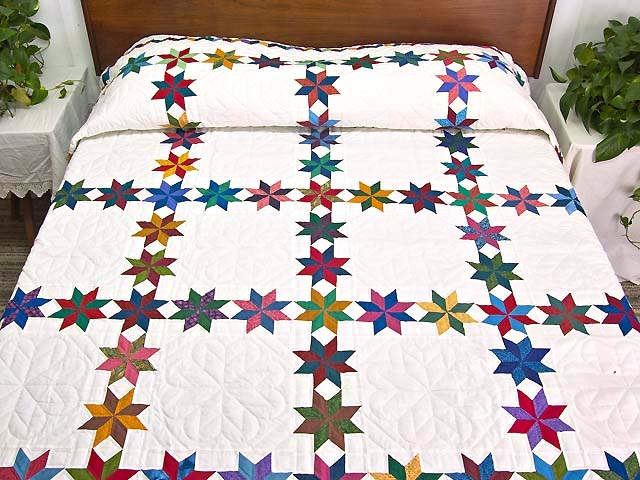 Multicolor Starry Path Quilt Photo 1