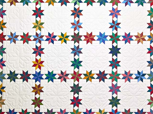 Multicolor Starry Path Quilt Photo 3