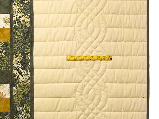 Dark Green and Gold Lone Star Trip Quilt Photo 6