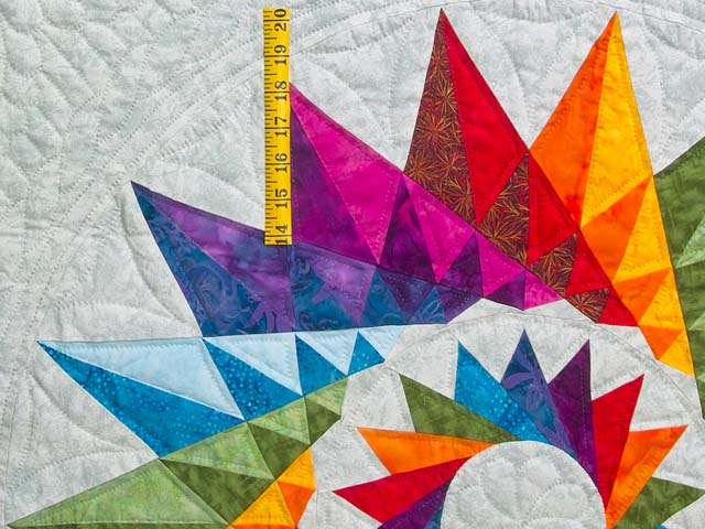 Multicolor Cartwheel Compass Quilt Photo 5