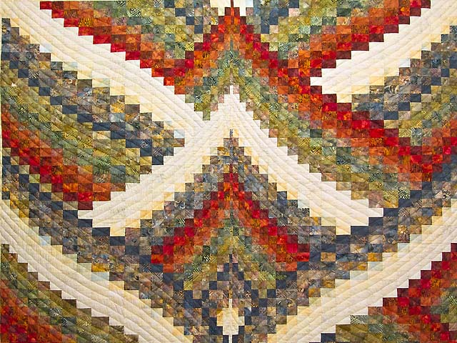 Hand Painted Lightning Strikes Bargello Quilt Photo 3