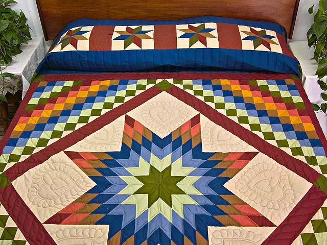 Amish Paper Bag Lone Star Trip Quilt Photo 1
