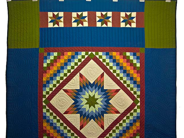 Amish Paper Bag Lone Star Trip Quilt Photo 2