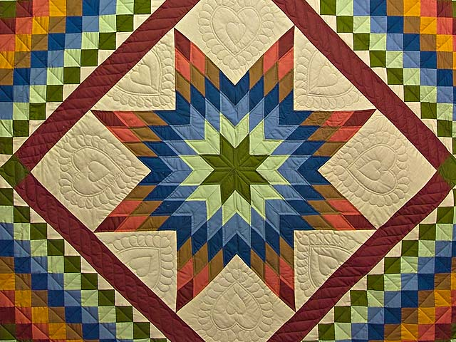 Amish Paper Bag Lone Star Trip Quilt Photo 3