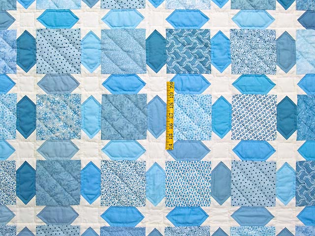 King Pastel Blue and Cream Starry Sky Quilt Photo 4